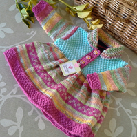 Baby Girl's Knitted Dress 0-6 Months size