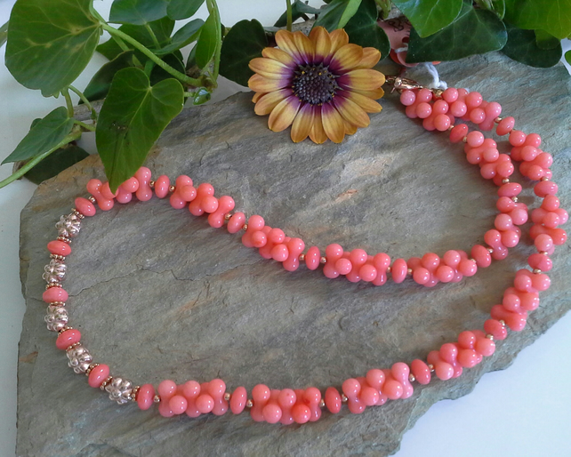 Beach Coral Rose Gold Vermeil Necklace