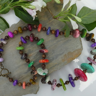 Howelite Chunky Necklace