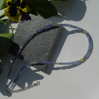 AA Grade Tanzanite & Ethopian Wello Opal Sterling Silver Necklace
