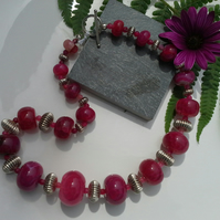 Fabulous Statement  Agate Sterling Silver Necklace