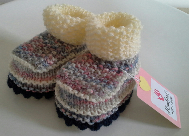 Baby Girl's Cosy the Booties  0-3 months