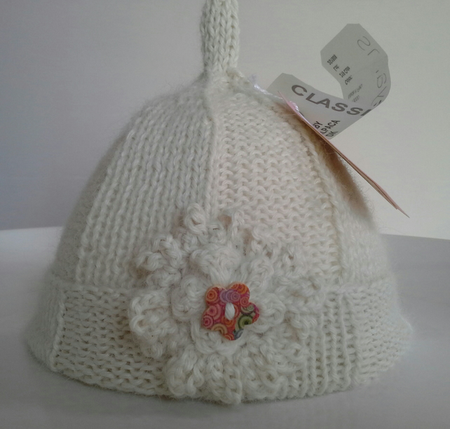 Pure 'Baby Alpace'  Baby  Pixie Hat  0-3 months