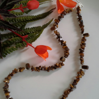 Tiger's Eye Gemstone Necklace