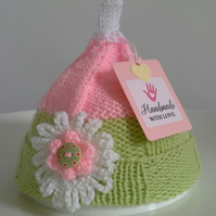 Baby Girl's  Newborn Flower Pixie Hat