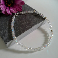 Sterling Silver Friendship Crystal Bracelet