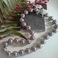 Large 16 mm Shell Pearl Necklace Silver Plated
