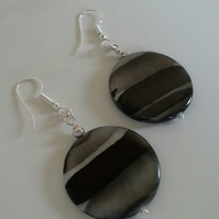 Mother of Pearl Silver Plated Earrings
