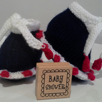 Unisex Jester Baby Booties  0-3 months size