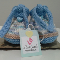 Baby Boy's Tie Booties  0-3 months size