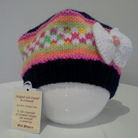 Baby Girls Beret Style Hat  0-6 months