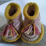Baby Booties with wool 6-9 months