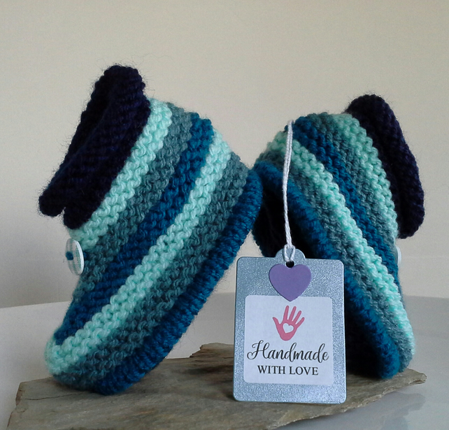 Baby Boy's Booties  6-9 months size
