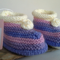 Baby Girl's Booties  6 -9 months size