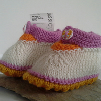 Pure Baby Alpaca Girls Baby Shoes  0-6 months size