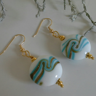 Genuine Murano Glass Gold Plate Earrings