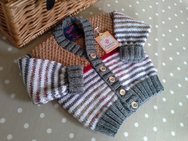 Baby Boys Cardigan with 30% marino wool  6-12 months size