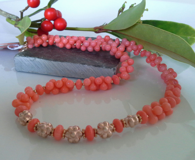 Coral Rose Gold Vermeil Necklace