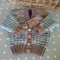Baby Boys Cardigan  with Marino Wool Mix 6-12 months size