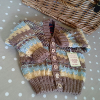Luxery Baby Boys Cardigan with Marino Wool  9-18 months size