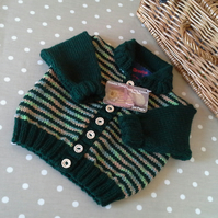 SALE ITEM Baby Boys Striped Cardigan   9-18 months size
