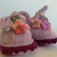 Luxery Baby Girl's 'Jeager'  Merino Wool Shoes  3-9 months size