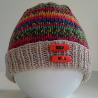 SALE ITEM Baby Boys Beanie Hat 3-9 months sizes