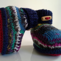 SALE ITEM Baby Boys Booties  0-6 months size