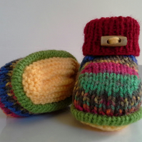 SALE ITEM Unisex Baby Booties  0-6 months