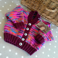 Stripy Baby Girls Cardigan  6-12 months size