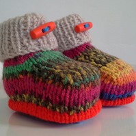SALE ITEM Unisex Baby Booties  0-3 months