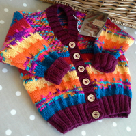 Unisex Baby Striped Cardigan 9-18 months
