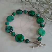 AAA Turquoise (Stabalised)  Sterling silver bracelet