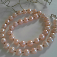 Champagne Freshwater Pearl Sterling Silver Necklace