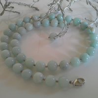 Russian Amazonite Sterling Silver Necklace