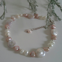 Freshwater Culture Pearl Sterling Silver Bracelet