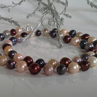 Multicoloured Freshwater Culture Pearl Sterling Silver Necklace