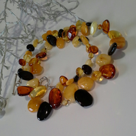 Baltic Amber Necklace Sterling Silver