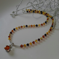 Baltic Amber Sterling Silver Necklace 'ONE OFF'