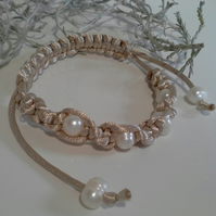 Genuine Freshwater Pearl Friendship Bracelet