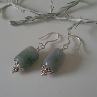 Burmees Jadeite Sterling Silver Earrings