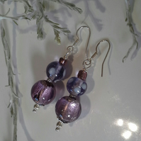 Silver Plated Glass Earings
