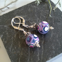 Hand Made Polymer Clay Lever Back Earings