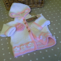 Baby Girl's Hooded Jacket-Cardigan  3-9 months