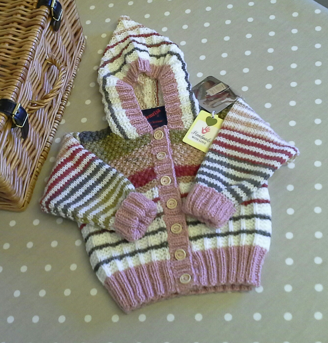 Unisex Hooded Baby Cardigan-Jacket  9-18 months