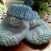 Baby Boys Adjustable Mittens  3-9 months size