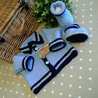 Baby Boys Jacket & Booties Set  0-6 months size