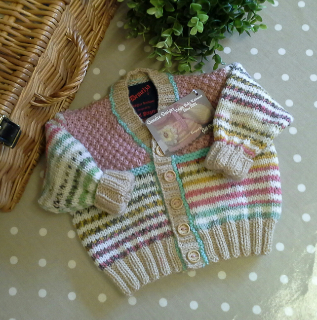 Luxery Baby Girl's Designer Cardigan  with Wool & Cotton 3-9 months size