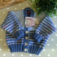 Baby Boys Hand Knitted Cardigan  3-9 months size