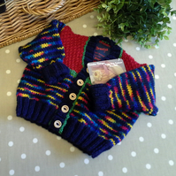 Unisex Baby Hand Knitted Cardigan  3-9 months